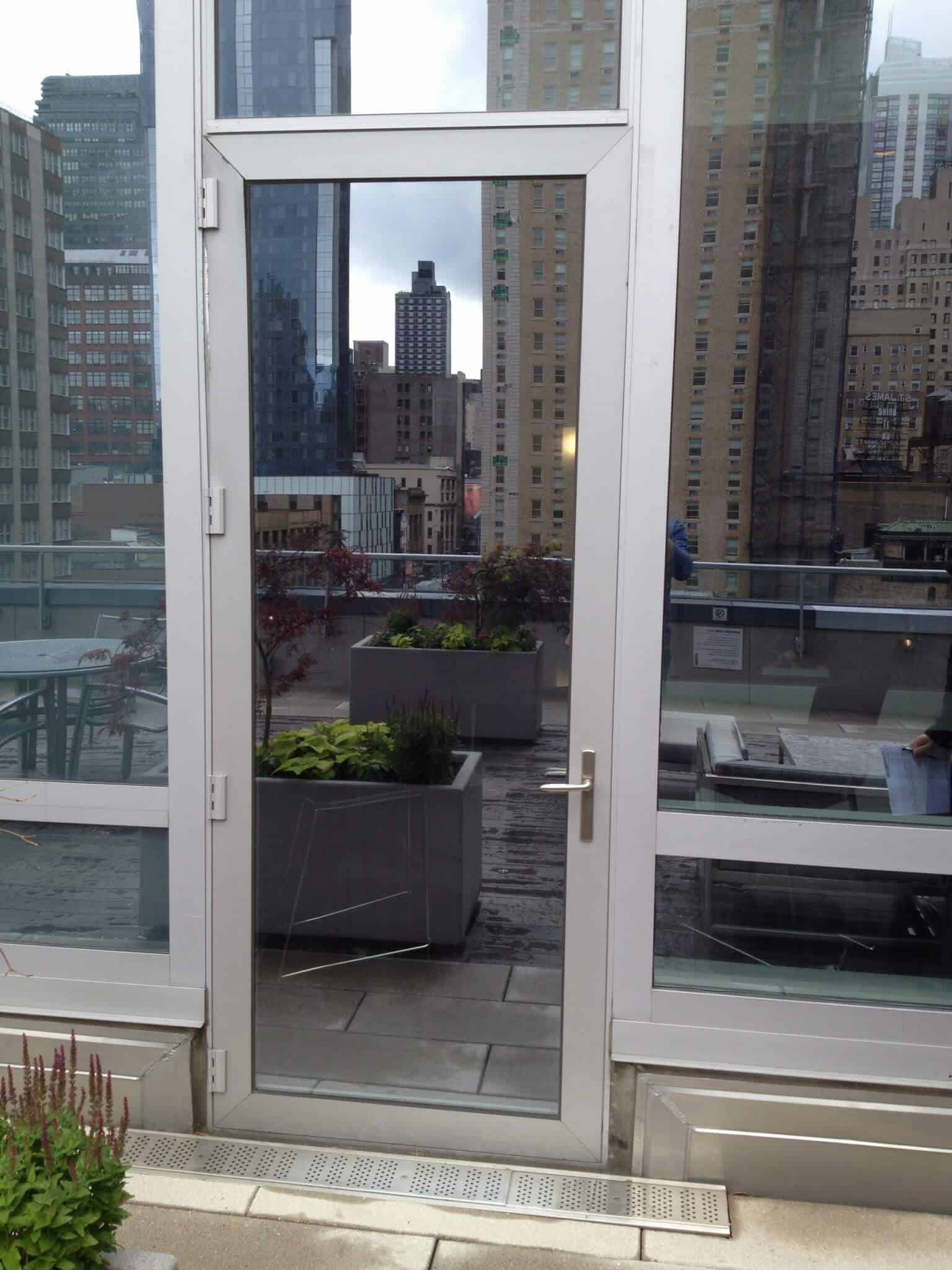 Aluminum Doors New York Locksmith Paragon Security Nyc