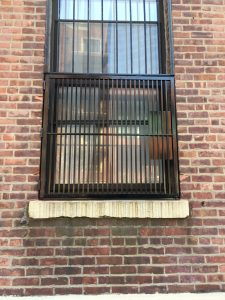 Exterior view of window with FDNY window gate installed