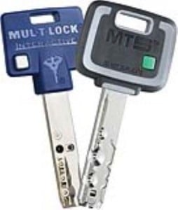 2 high security Mul-T-Lock Keys