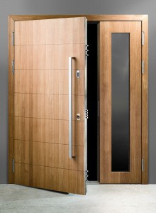 image of large high security solid door