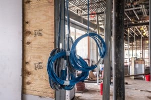 example of large scale commercial wiring project