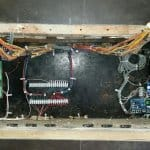 Interior of an intercom panel