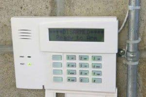Honeywell alarm system touch pad