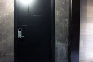 "Door with LATCH ""M"" Smart Mortise lock installed"