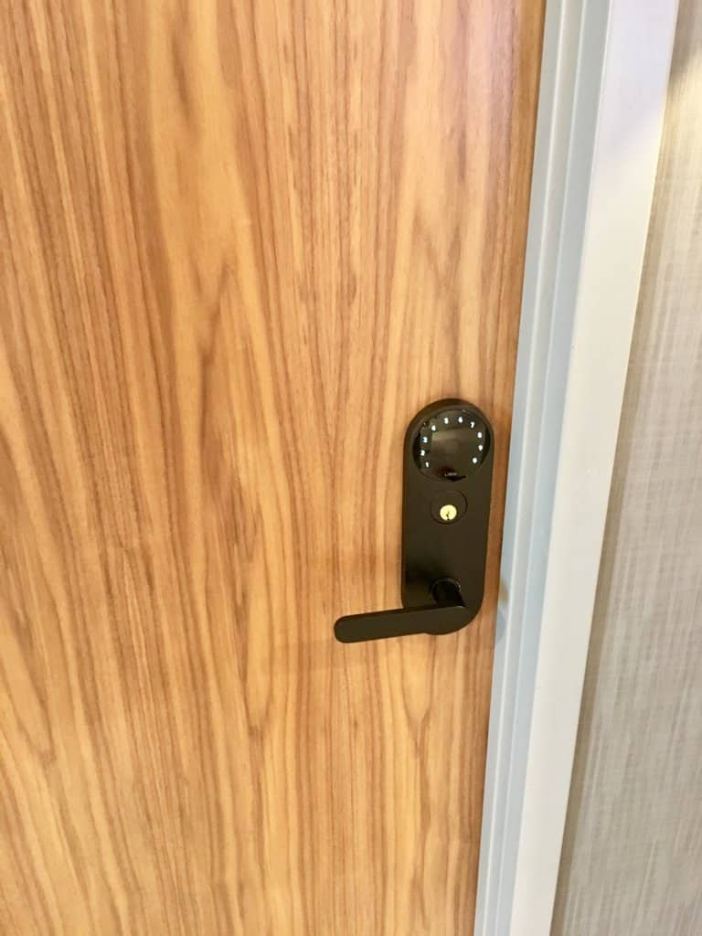 Installed Latch M on door