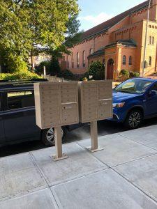 Exterior Mailbox system for multi-unit apartment complex