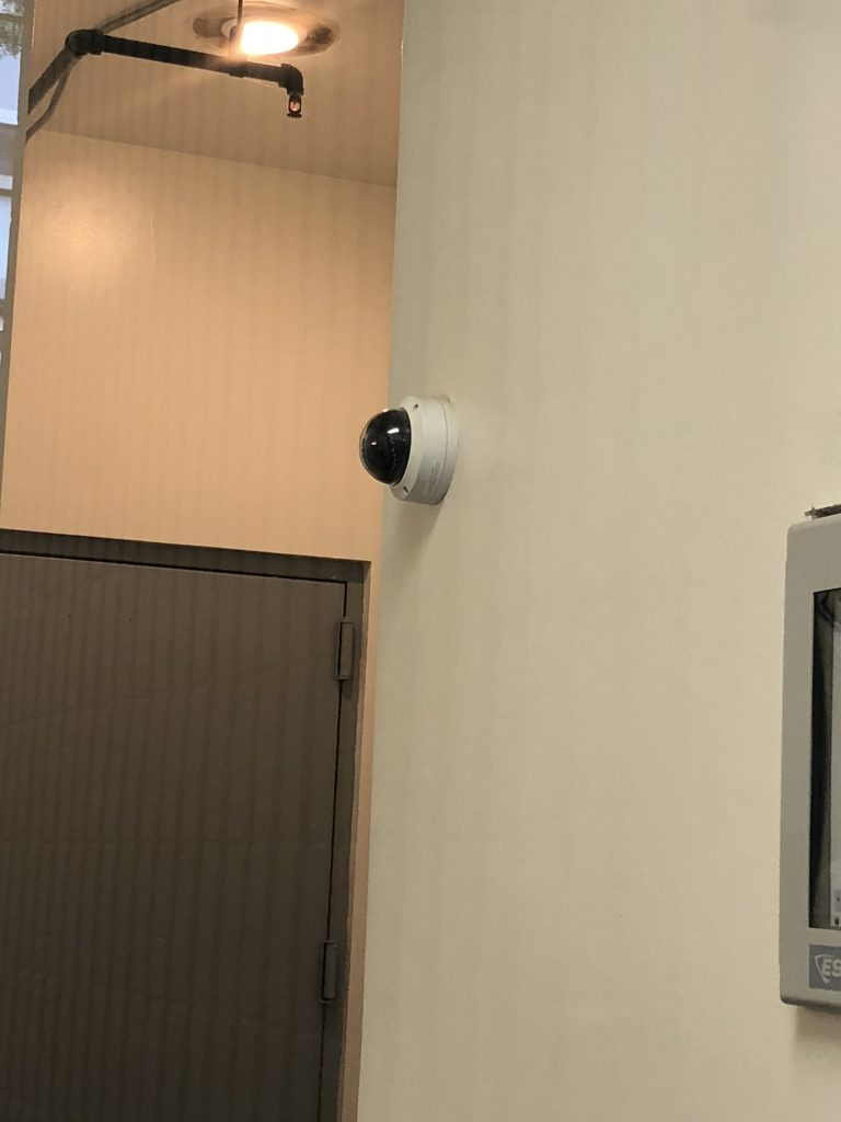 Security Camera installed on an interior wall