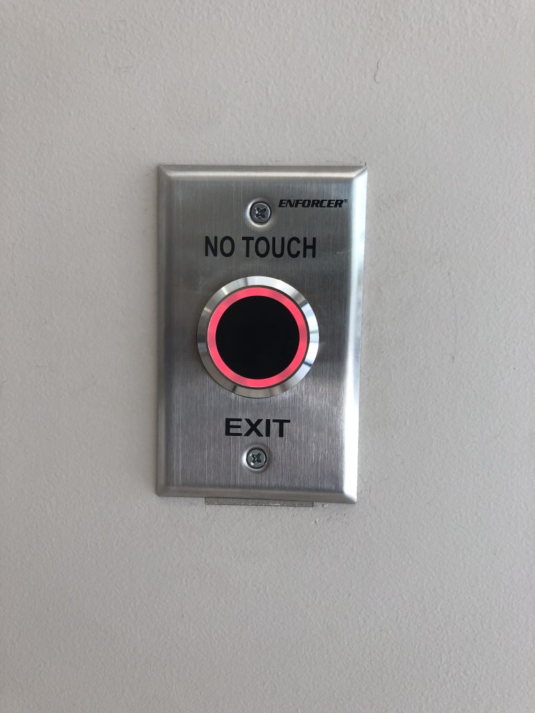 Button with panel that states