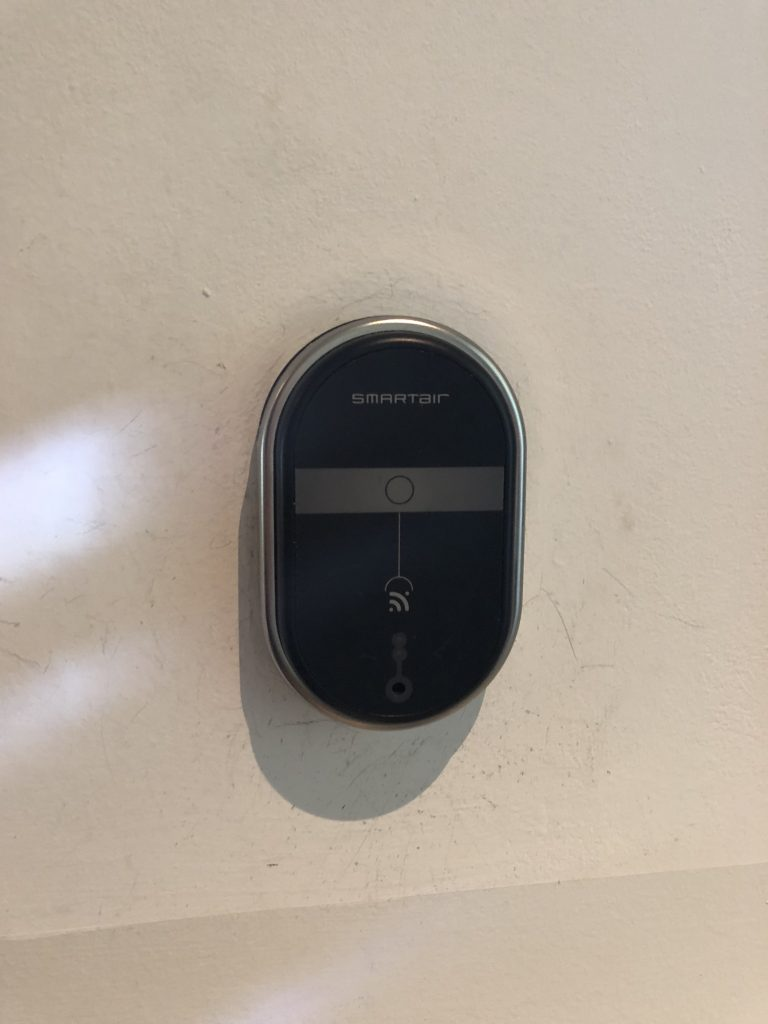 Smartair Wireless Card Readers shown installed on a wall
