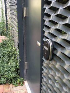 Smartair Wireless Card Readers & mortise lever lockset on an exterior door