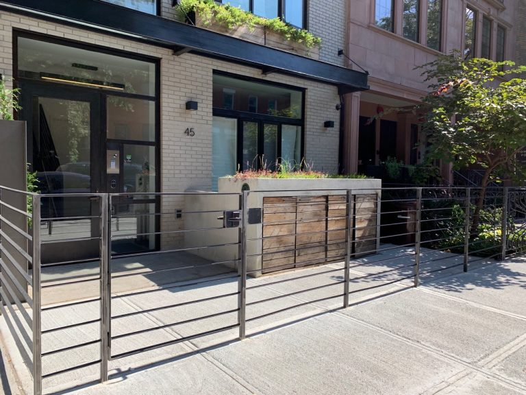 Custom wrought iron fence and gate